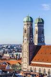 Frauenkirche是一个教会在巴法力亚市慕尼黑 库存照片