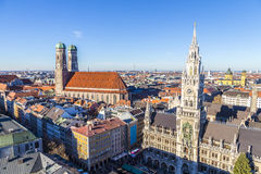 Frauenkirche是一个教会在巴法力亚市慕尼黑 免版税库存图片