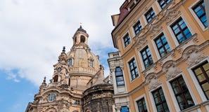Frauenkirche, Δρέσδη Στοκ Φωτογραφίες