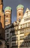 Frauenkirche στο κέντρο του Μόναχου, Γερμανία Στοκ φωτογραφία με δικαίωμα ελεύθερης χρήσης