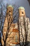 Frauenkirche στο κέντρο του Μόναχου, Γερμανία Στοκ φωτογραφίες με δικαίωμα ελεύθερης χρήσης