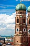 Frauenkirche στο Μόναχο, γερμανικά Στοκ Εικόνες