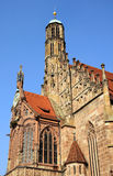 Frauenkirche - церковь Нюрнберга Стоковые Фото
