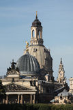 Frauenkirche and the Academy of Fine Arts in Dresden, Saxony, Ge Stock Images