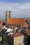 Frauenkirche Cathedral Church in Munich (1). Frauenkirche Cathedral Church in Munich (Munchen), Germany. View from Sacred Peter's Church Royalty Free Stock Photography