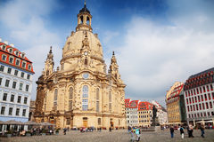 Frauenkirche cathedral in Dresden Stock Images