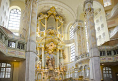 Frauenkirche cathedral, Dresden, Germany Royalty Free Stock Images
