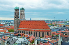 The Frauenkirche, church in the Bavarian, Munich. The Frauenkirche Cathedral of Our Dear Lady, church in the Bavarian, Munich Royalty Free Stock Images