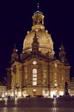 Frauenkirche church of Dresden by night. Dresden, Germany Royalty Free Stock Image