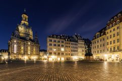 Frauenkirche church in Dresden square in Germany. Europe Stock Image