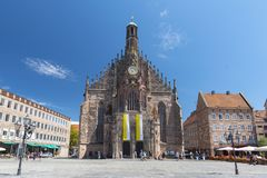 The Frauenkirche Church of Ladies in Nuremberg, Bavaria, Germany. royalty free stock photos