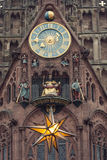 The Frauenkirche - Church of Our Lady with the clock - The Männ Stock Image