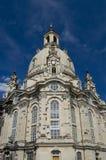 Frauenkirche Dresda, chiesa della nostra signora Immagini Stock Libere da Diritti