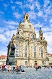 Frauenkirche a Dresda Germania. Immagine Stock Libera da Diritti