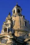 frauenkirche dresden куполка стоковые фотографии rf