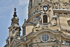 Frauenkirche Dresden. The rebuilt Dresdner Frauenkirche (Church of Our Lady Royalty Free Stock Photo
