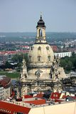 Frauenkirche in Dresden. Frauenkirche (Church of our Lady) - a Lutheran church in Dresden, seen from city hall tower Stock Photography
