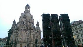 frauenkirche dresden стоковые фотографии rf