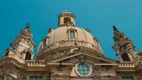 Frauenkirche Dresden - Baroque church with a characteristic dome Stock Images