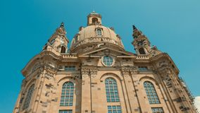 Frauenkirche Dresden - Baroque church with a characteristic dome Royalty Free Stock Photography
