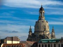 The Frauenkirche in Dresden, Detail stock image