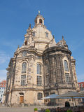 Frauenkirche Dresden. Dresdner Frauenkirche meaning Church of Our Lady in Dresden Germany Royalty Free Stock Photos
