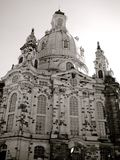 Frauenkirche, Dresden, Germany. Black and white image of the restored church Stock Photo