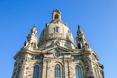 Frauenkirche Dresden Saxony Germany from underneath Royalty Free Stock Photo