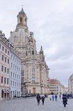 Frauenkirche is een Lutheran kerk Het werd opgericht op 1670-1733 Royalty-vrije Stock Afbeelding