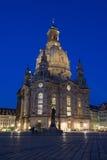 Frauenkirche entro la notte Fotografia Stock Libera da Diritti