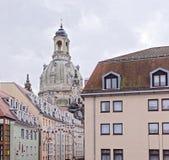 Frauenkirche est une église luthérienne Image stock
