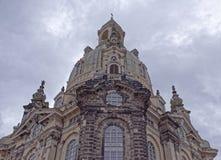 Frauenkirche est une église luthérienne Images libres de droits