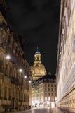 Frauenkirche and Fürstenzug Royalty Free Stock Image