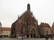 Frauenkirche huvudsaklig stadskyrka royaltyfria bilder