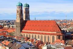 Frauenkirche i Munich Arkivbilder