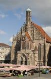 Frauenkirche i Nuremberg Royaltyfria Bilder