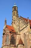 Frauenkirche - igreja de Nuremberg Fotos de Stock