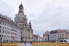 Frauenkirche ist eine lutherische Kirche Es wurde 1670-1733 aufgerichtet Lizenzfreies Stockfoto