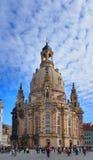 Frauenkirche kyrka i Dresden, Tyskland Arkivfoton