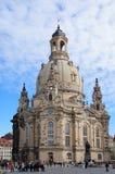 Frauenkirche kyrka i Dresden, Tyskland Royaltyfri Fotografi