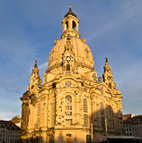 Frauenkirche (Ladys church). In a dusk light, Dresden, Germany Royalty Free Stock Photo