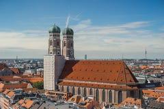 ¼ Frauenkirche MÃ nchen Стоковые Фотографии RF