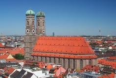Frauenkirche in München, Duitsland stock afbeeldingen