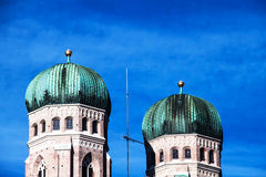 Frauenkirche in München, Duitsland Stock Foto