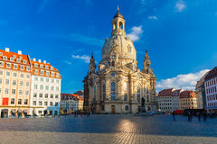 Frauenkirche in the morning, Dresden, Germany Royalty Free Stock Image