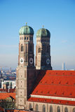 Frauenkirche Munich. Germany. Picture taken from a nearby steeple Royalty Free Stock Image