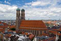 The Frauenkirche, Munich. Elevated View of Frauenkirche, Church of Our Lady, Munich, Germany Stock Image