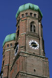 Frauenkirche in Munich. The two dome towers of Frauenkirche in Munich, Germany royalty free stock images