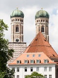 Frauenkirche in Munich. The towers of the Frauenkirche in Munich Royalty Free Stock Photos