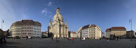 Frauenkirche and Neumarkt in Dresden Stock Photos
